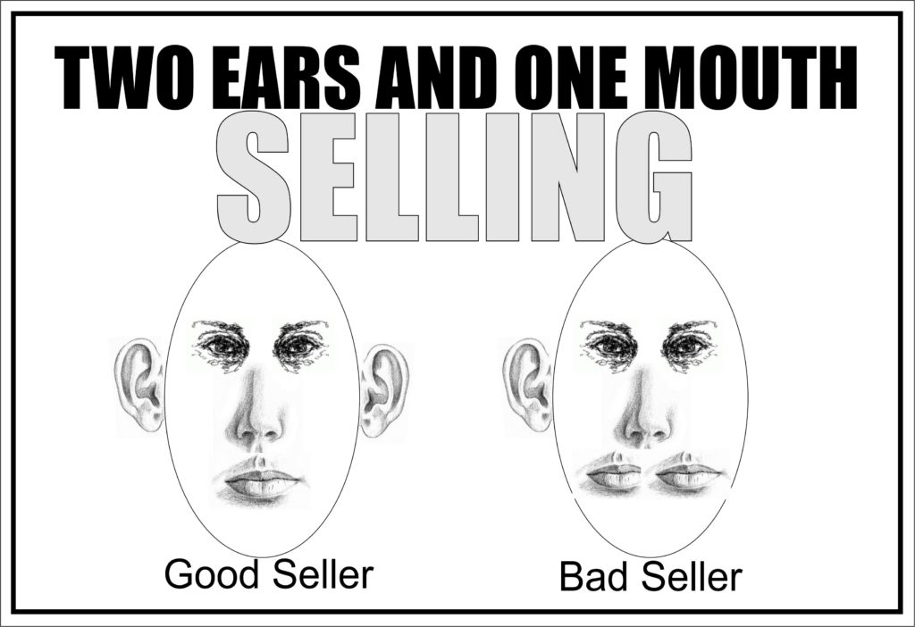 Two Ears and One Mouth Selling