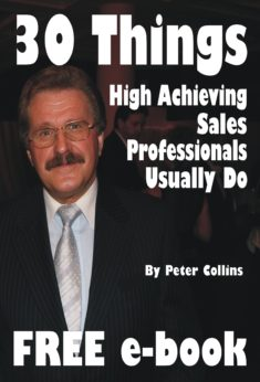 30 Things High Achieving Sales Professionals Usually Do