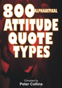 Over 800 Attitude Quote Types