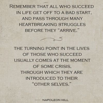 Hill-Success-Turning-Point