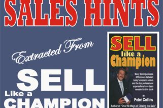 Sell Like a Champion Tips