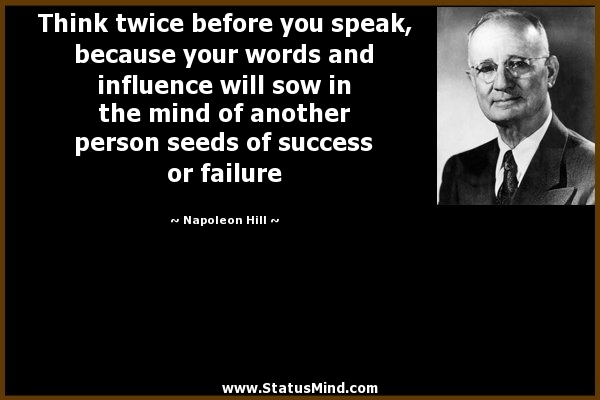 Speak-Influence-Success- Hill