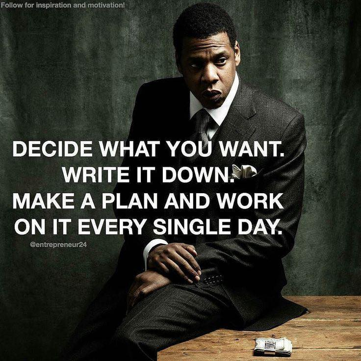 DECIDE WHAT YOU WANT, WRITE IT DOWN