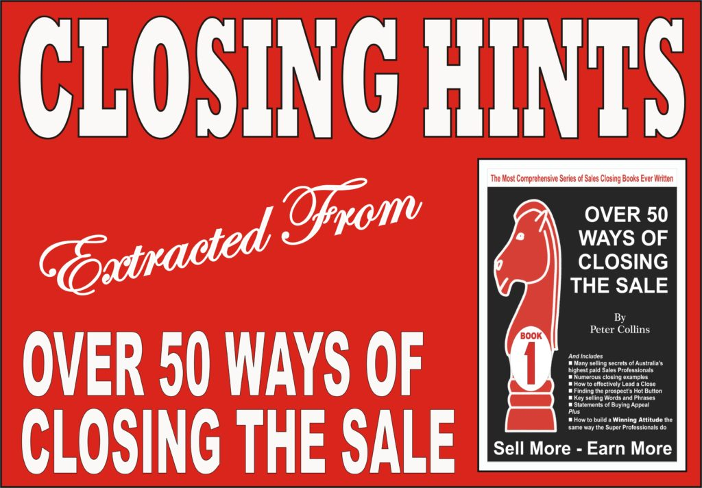 RESEARCH SHOWS CLOSING IS EASY
