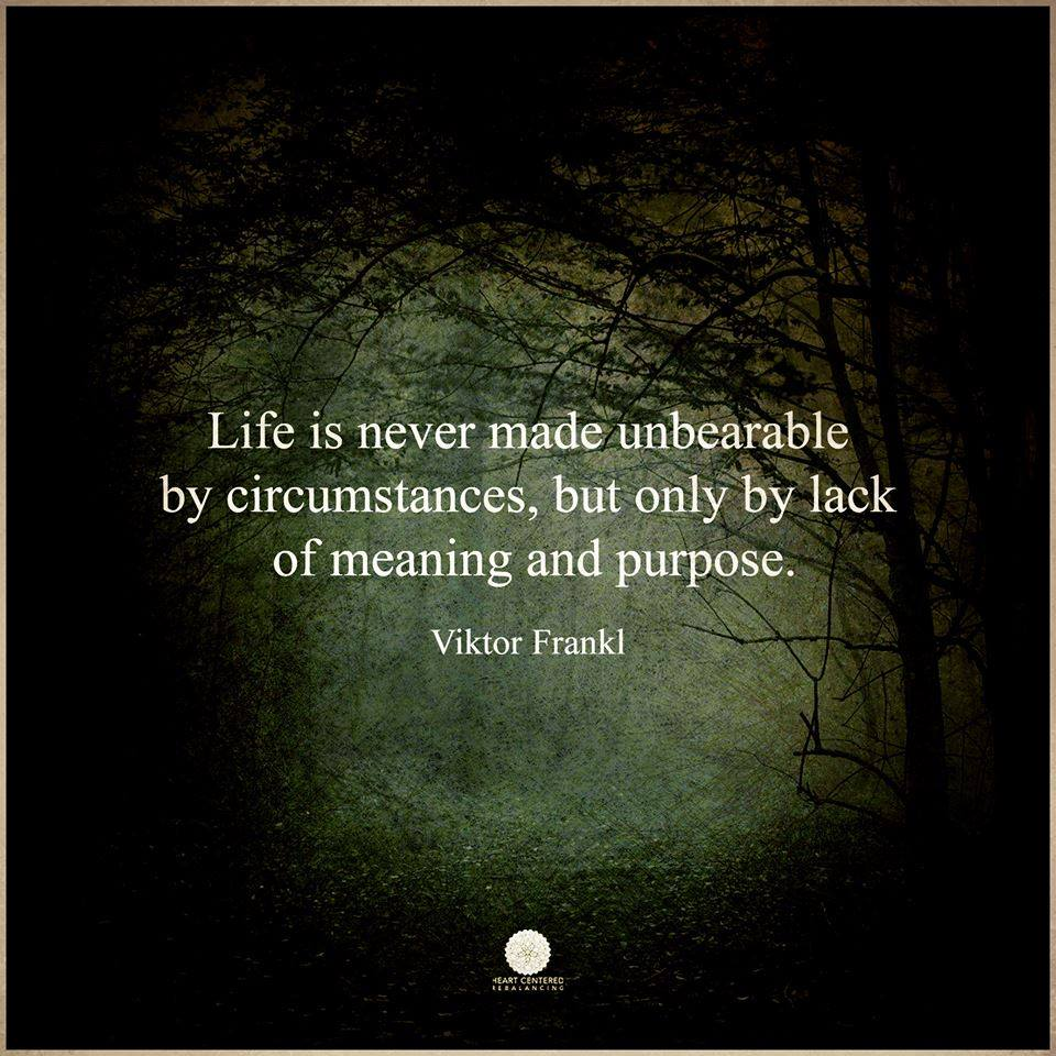 LIFE IS NEVER MADE UNBEARABLE BY CIRCUMSTANCES