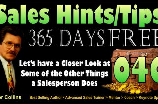 Let's Have a Closer Look at Some of the Things a Salesperson Does